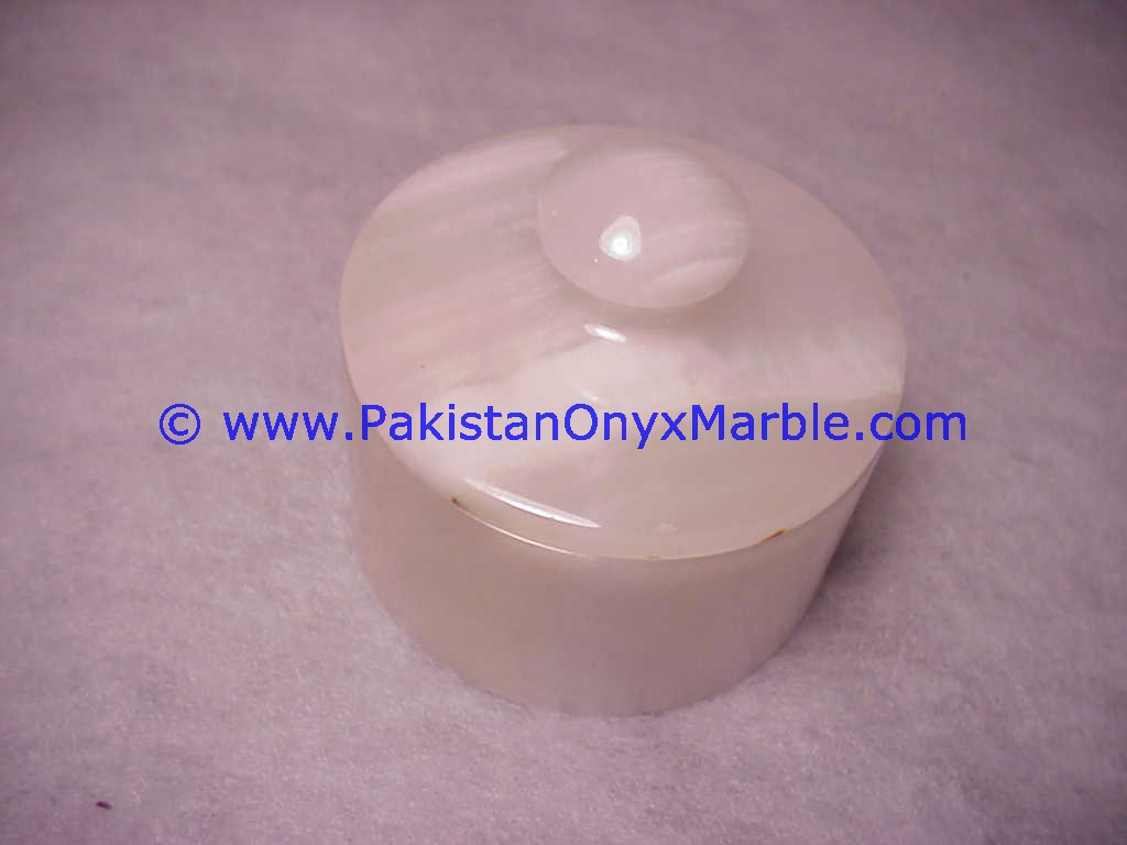 best quality unique gift White Onyx Jars Trinket Container