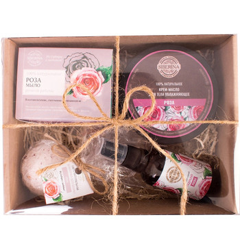 100% Pure Natural Bio cosmetics women sale spa Gift set ROSE