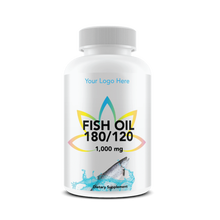 USA GMP Certified Private Label Fish Oil 180 EPA/120 DHA 1,000mg BOTTLED Wholesale