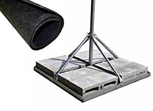 """ROHN FRM125 Non-Penetrating Roof Mount with 1.25"""" x 60"""" Mast Bundle with ROHN FRMMAT Roof Mat"""