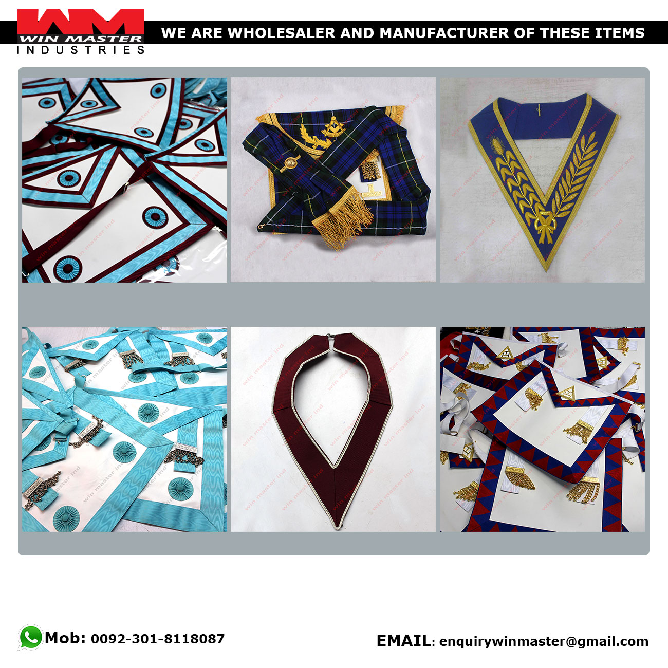 Royal Arch Grand Lodge Apron with Sash Best quality