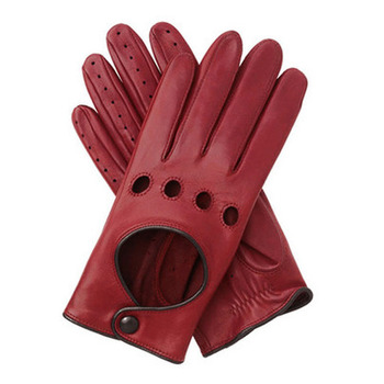 cd59352c1 Womens Red Leather Driving Gloves/women Winter Gloves - Buy Custom ...