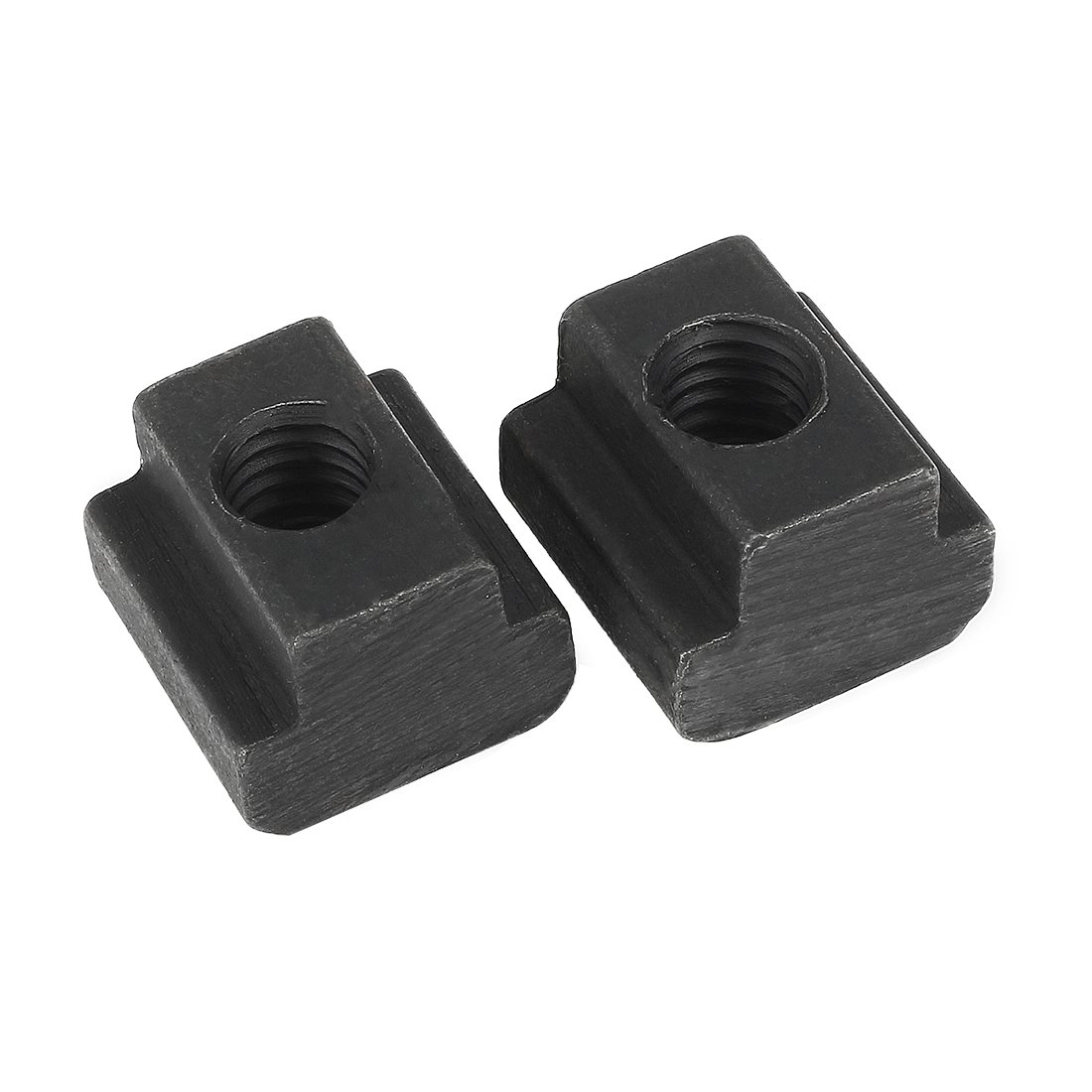 uxcell M6 Female Thread Steel T-Slot Nut Grade 12.9 Tapped Through 2pcs