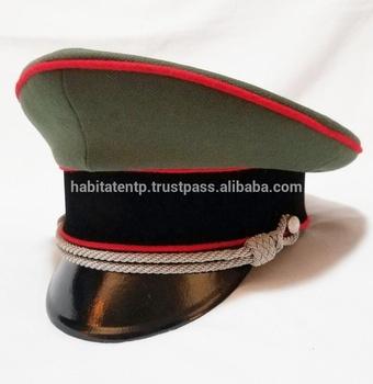 aa2aaaf5 WW2 German Elite Artillery Officer Parade Dress Visor hat cap schirmmutze