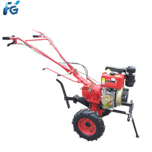 Walking farm diesel micro cultivator power mini tiller with sell