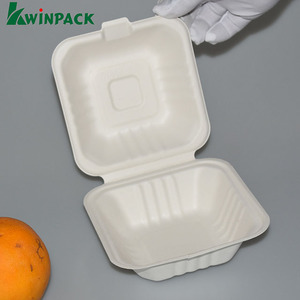 Eco Friendly Food Packaging Disposable Food Grade Degradable Sushi Paper Bagasse Pulp Box