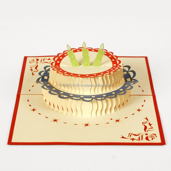Beautiful cake 3d pop up greeting card for birthday love card beautiful cake 3d pop up greeting card for birthday love card christmas card m4hsunfo