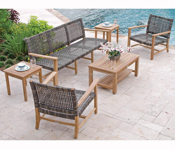 Patio Sofa Wicker Synthetic Ratan Raw Material Sofa Set With Teak Wood Sofa Set Designs Garden Furniture Indonesia Buy Teak Wood Sofa Set Teak Wood