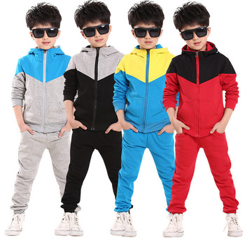 Kids Fleece tracksuits Boys Clothing Sets High Quality Children's Teenage Girl winter fleece warm kids tracksuits 6-15Years