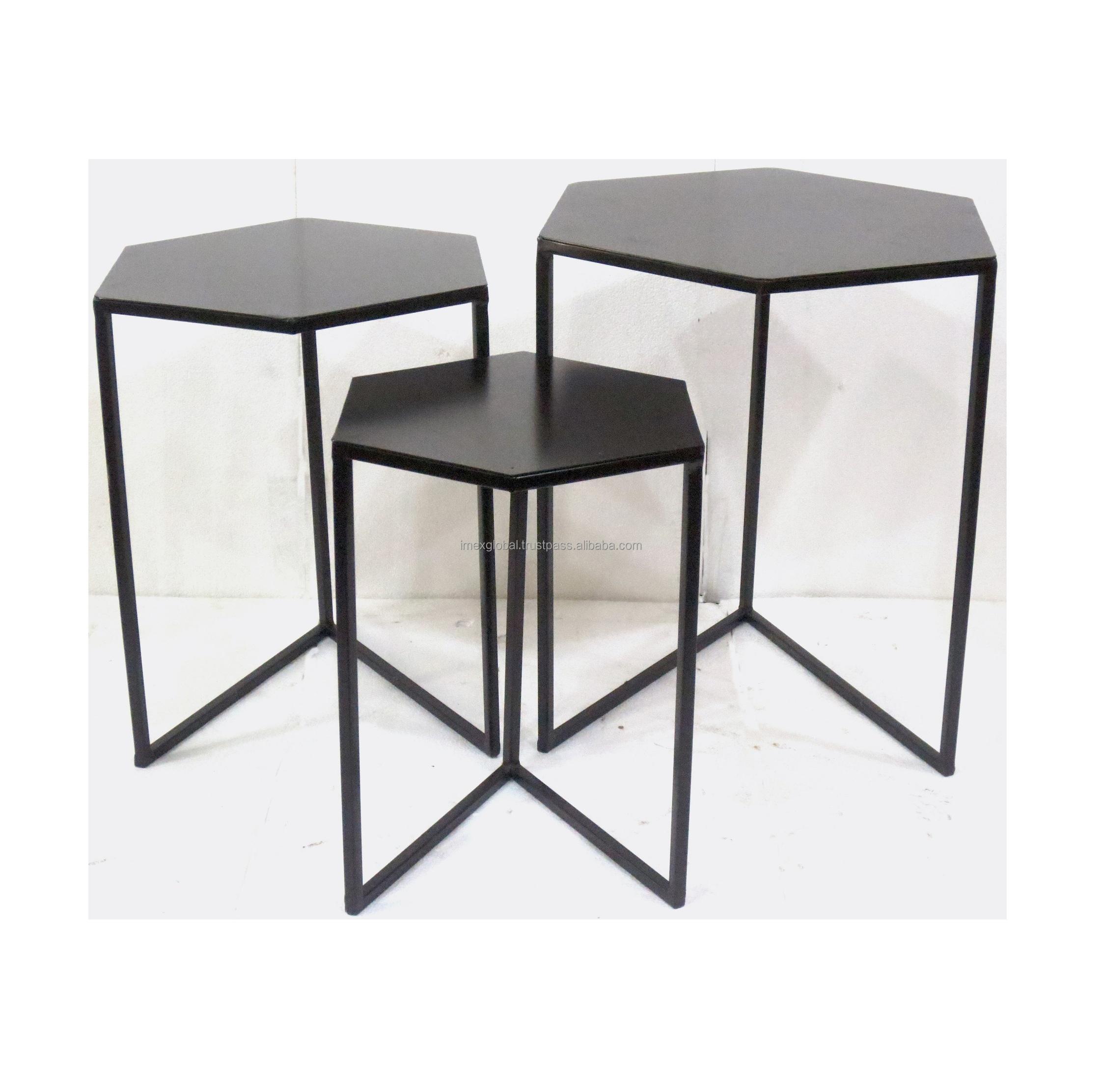 Forme Hexagonale S/3 L\'école West Elm Table D\'appoint