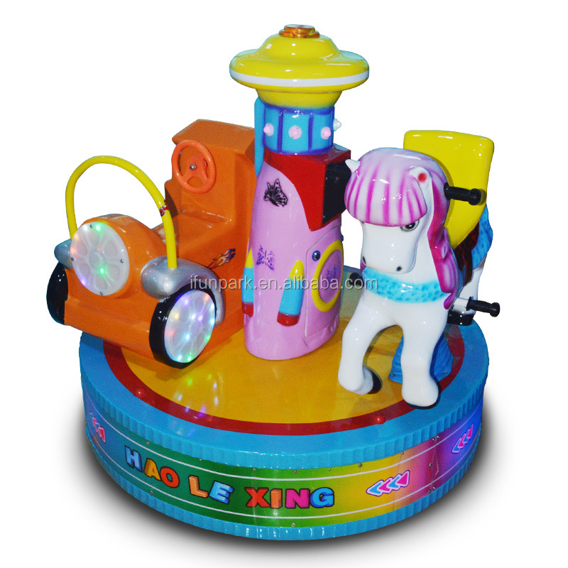 Muntautomaten vermaakmateriaal musical kiddie arcade carrousel rit kids game machine