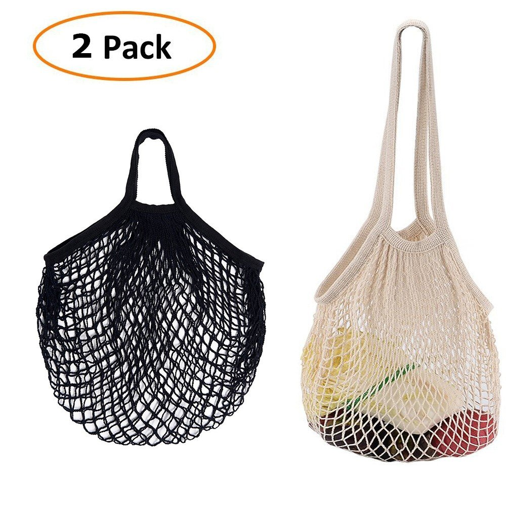 df8b0ac3e500 Buy Grocery Bags,2 pack Cotton Net Shopping Tote Ecology Market ...