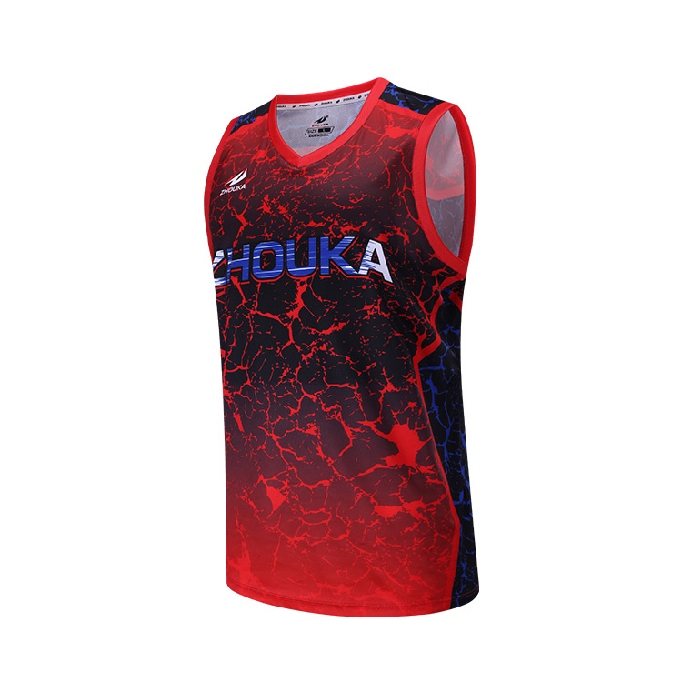 57f61c71a077 Latest Sublimated Custom Sample Basketball Uniform Jersey Logo Design Your  Own Color Red Black