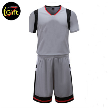 iGift Grey Color Sportswear Dri Fit-kundenspezifische OEM-Basketball-Uniform