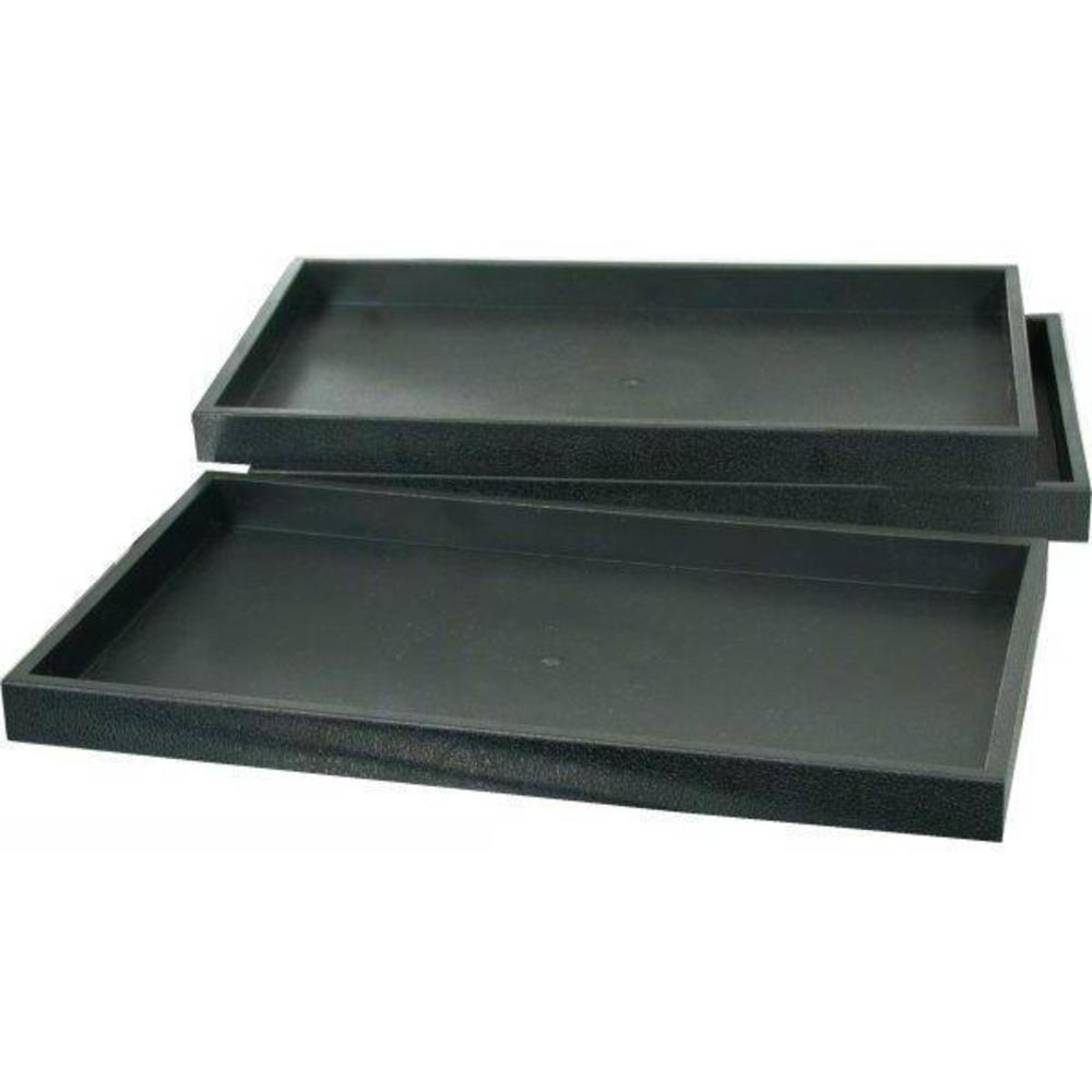 RJ Displays-3 Black Plastic Stackable Jewelry Display Stackable trays Showcase Displays