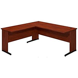 """Bush L-Shaped Desk Shell W/C-Legs 71""""W X 71""""D X 30""""H Features Durable 1"""" Thick Work Surface Grommets For Wire Management - Hansen Cherry"""