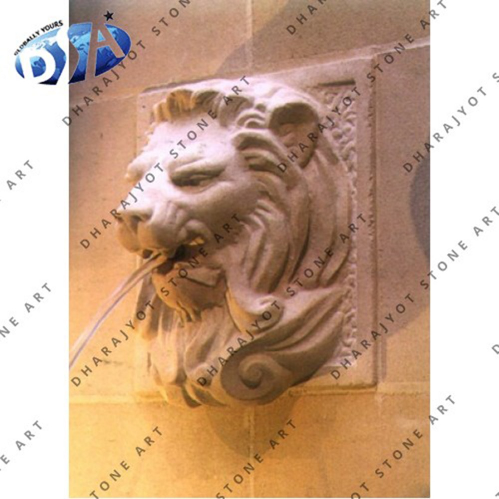 lion head wall mounted water fountains