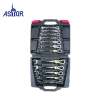 12 pcs Flexible Reversible Ratchet Spanner Hand Tool Set