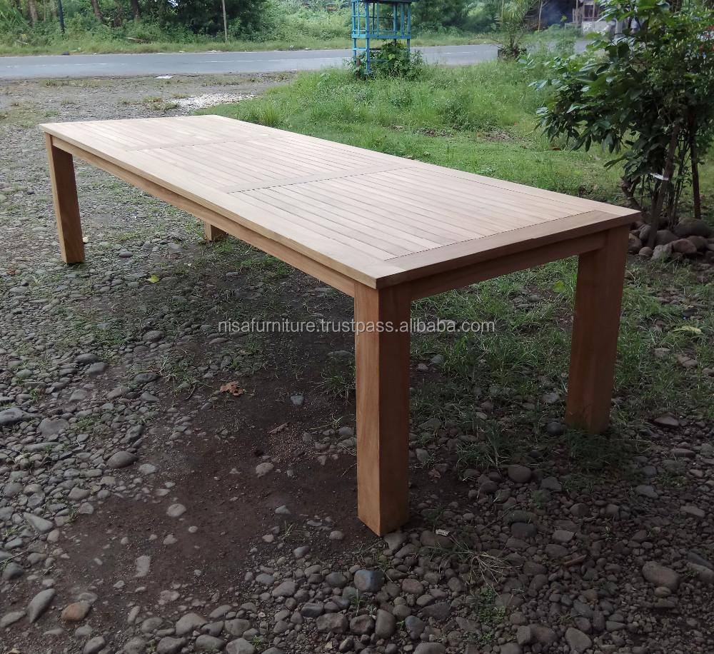 Teak Wood Outdoor Long Dining Table 3 Meter Jepara ...