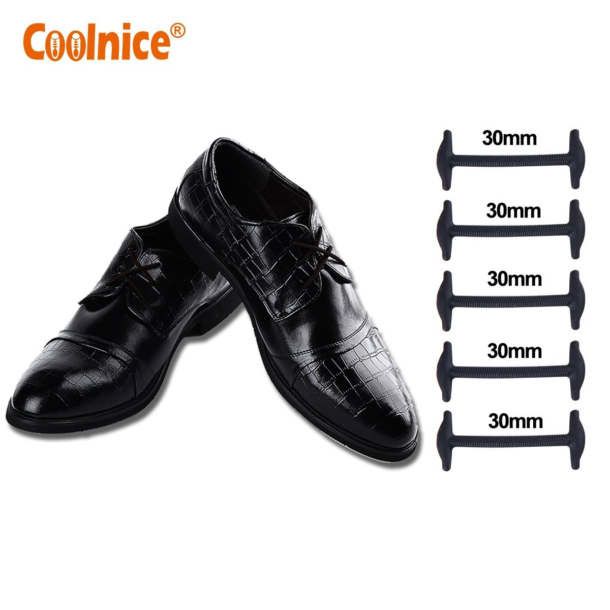 1e62f688a010 Get Quotations · Elastic No Tie Shoe Laces for Business Men and Women