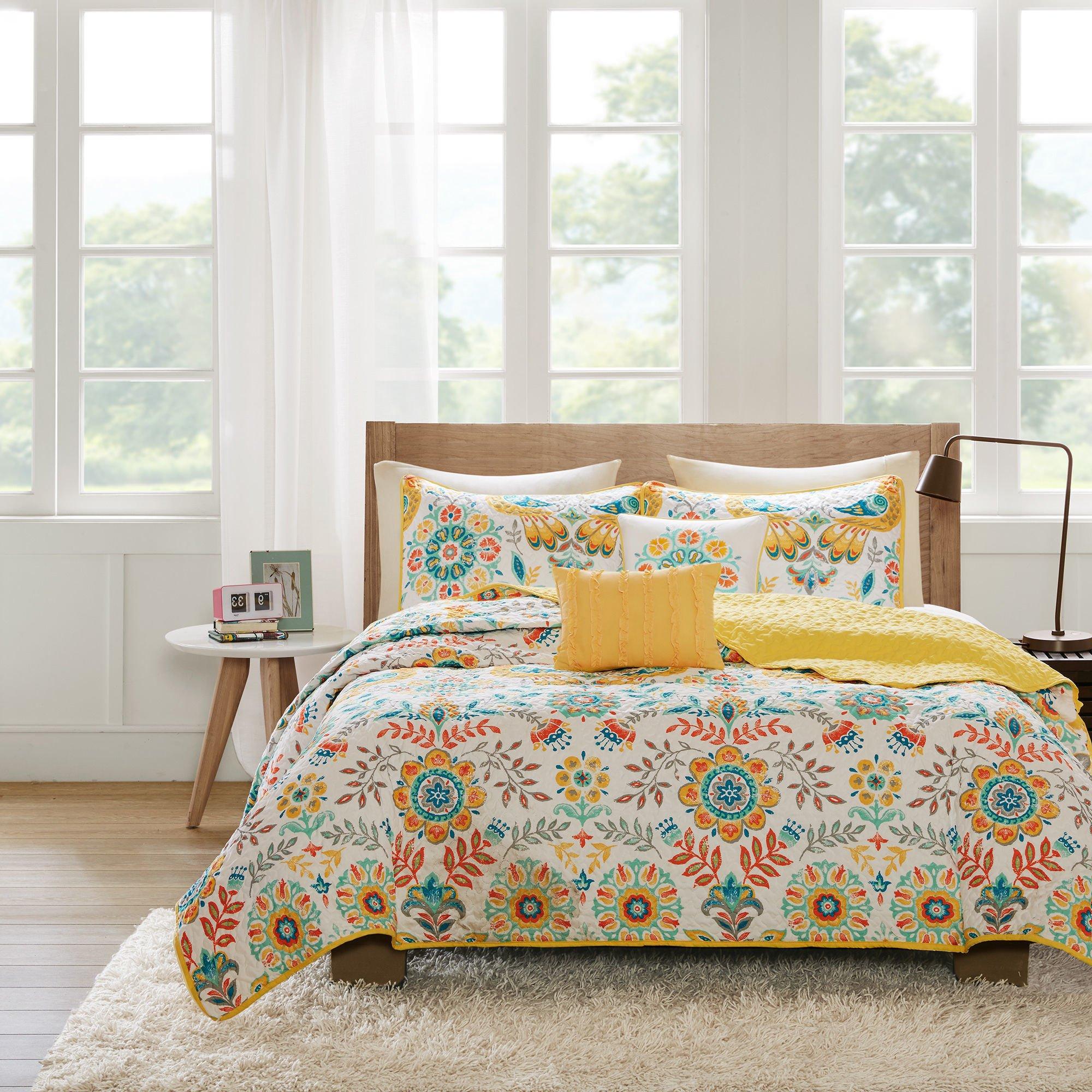 Multicolor teen quilt bedding