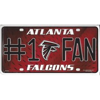 Atlanta Falcons #1 Fan License Plate-Officially Licensed