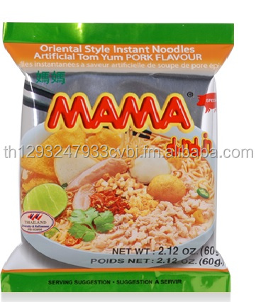 MAMA Instant Noodles Artificial Tom Yum Pork Flavour