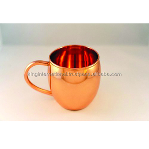 Mini Copper Hammered Mule Mug/Shot Glass - 2-4 Oz