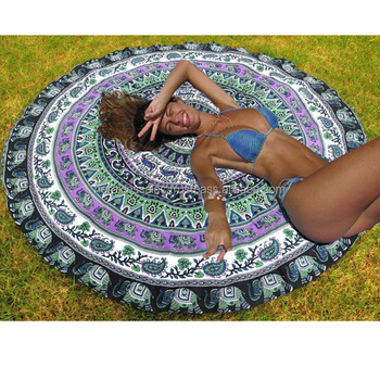 Indian Mandala Round Tapestry Wall Hanging Tapestries Boho