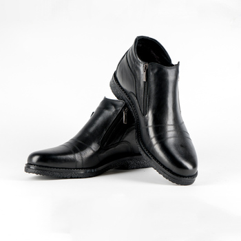 men shoes Cow Leather with sheepskin lining