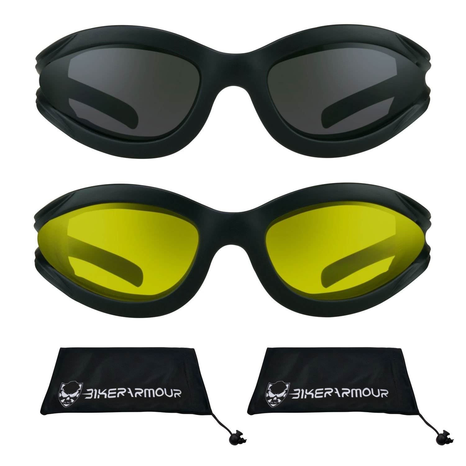 552fc8b473 Get Quotations · Motorcycle foam glasses with polycarbonate Smoke