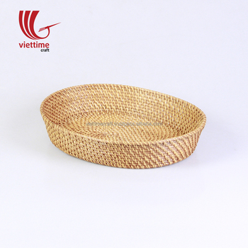 Natural Oval Rattan Tray