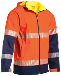 Work Wear Rip Stone Bonded Polyester Fleece 2 Tone Hi Vis Jacket