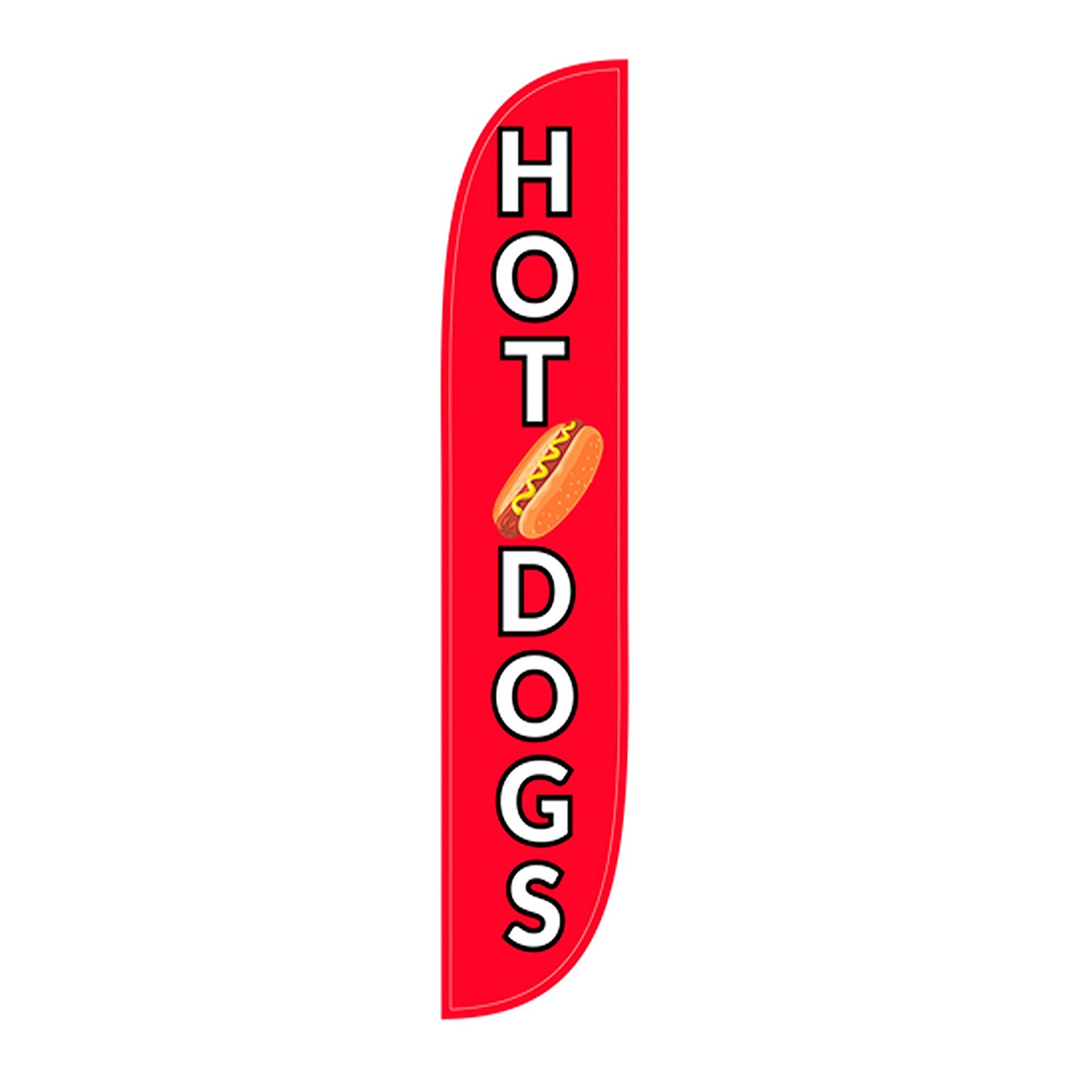 LookOurWay Hot Dogs Feather Flag, 12-Feet