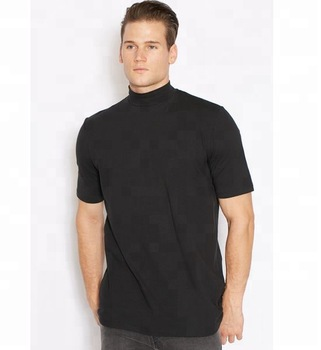 e930c3fa3609e4 High Neck T-shirt With Short Sleeve Men's Big Neck T-shirt - Buy ...