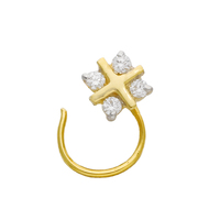 Indian 18kt Yellow Gold Diamond Nose Pin