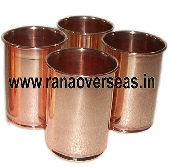 Pure Copper Glass Cup Tumblers For Drinking Water.