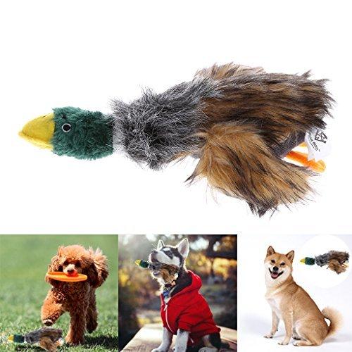 Puppy Toys,NNDA CO Pet Mallard Duck Dog Toy, Squeaky Dog Toy, Plush Puppy Dog Chew Toy for Small Medium Dogs