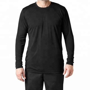 Medical Uniform Men Black Long Sleeve Shirt