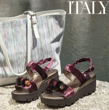 Ladies sandals in ciniglia made in Italy