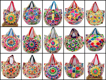 Multicolor Las Handbags Kutch Style Shoulder Bag Indian Tribal Fashion Boho Gypsy