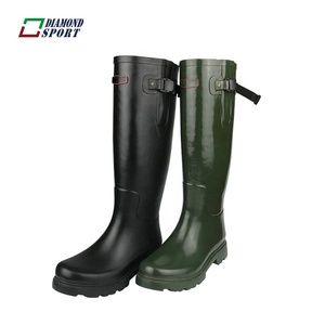 Horse riding gumboot women's rubber rain boot wellies