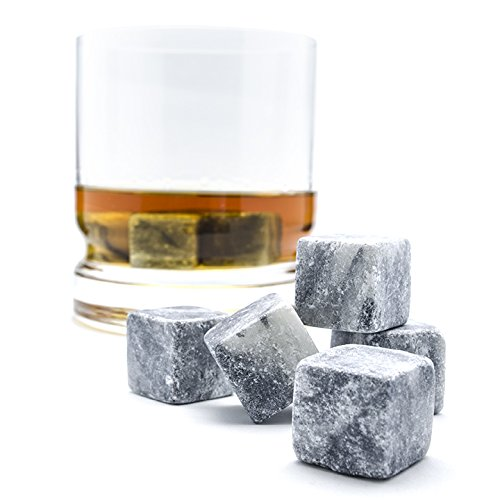 Bar Tools & Accessories Beverage Chilling Stones Whiskey Chill Rocks Set Of 9 100% Pure Soapstone Ice Kitchen, Dining & Bar
