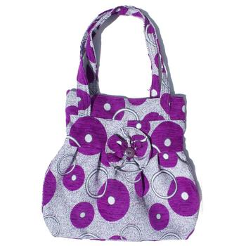 Unique Fashion Large Purple Gray Hobo Bags Handmade Wool Handbag Knitting Product Great Exotic Design Purse