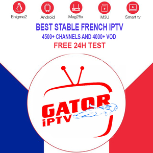 French IPTV Subscription for Android BOX Smart tv M3U Engima2 us europe  arabic Gator Iptv with free test
