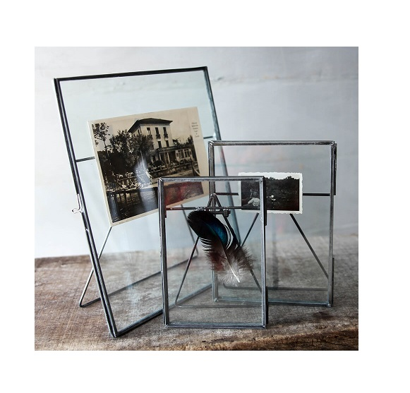 glass metal kiko standing frame