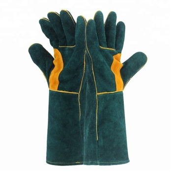 Leather Forge Welding Gloves Heat Fire Resistant Mitts For Oven