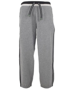 Gray with Black Side Stripe Sweat Pant