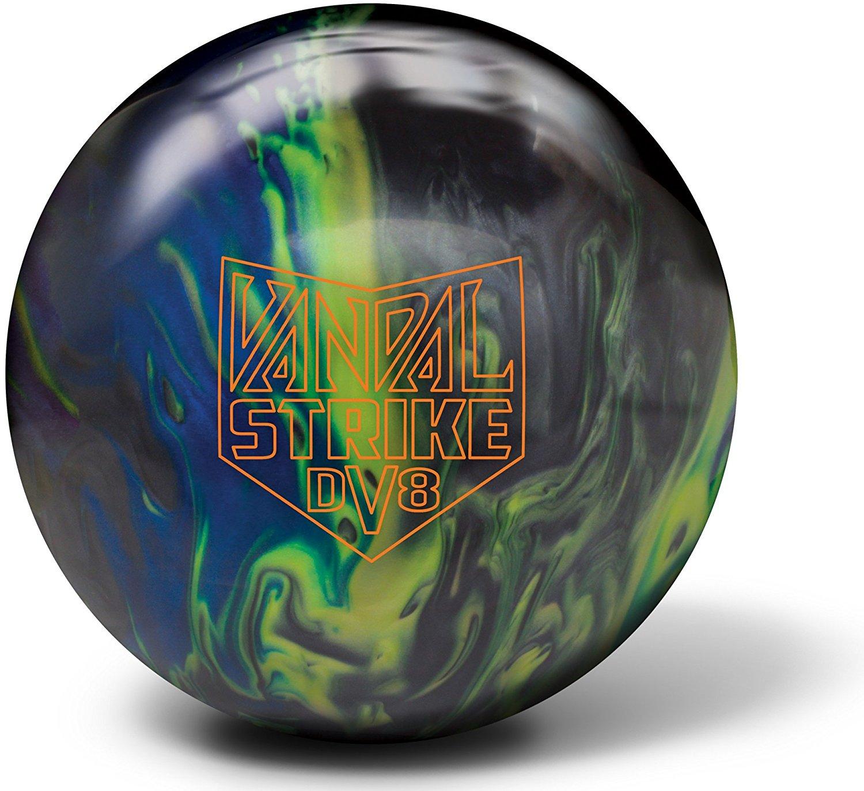 586e36c1 Get Quotations · DV8 Vandal Strike Bowling Ball- Black/Yellow/Blue Pearl
