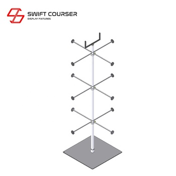 Swift shop fittings wire floor display rack stand